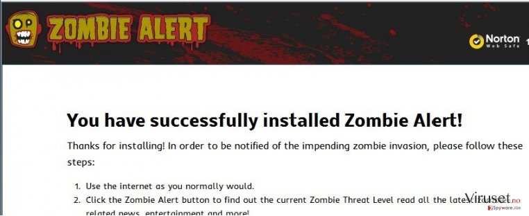 Zombie Alert virus skjermbilde