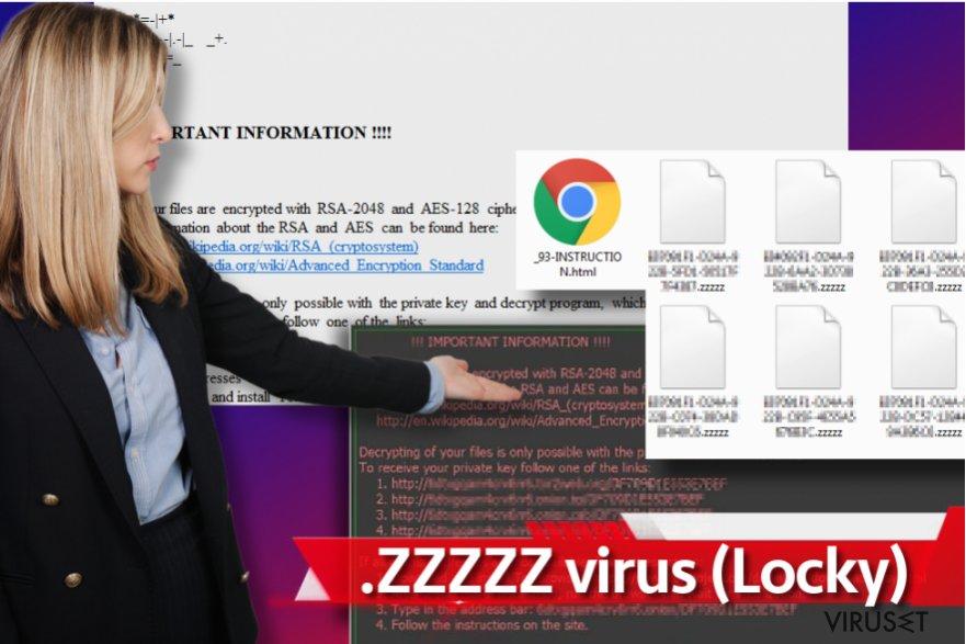 Zzzzz ransomware-virus skjermbilde